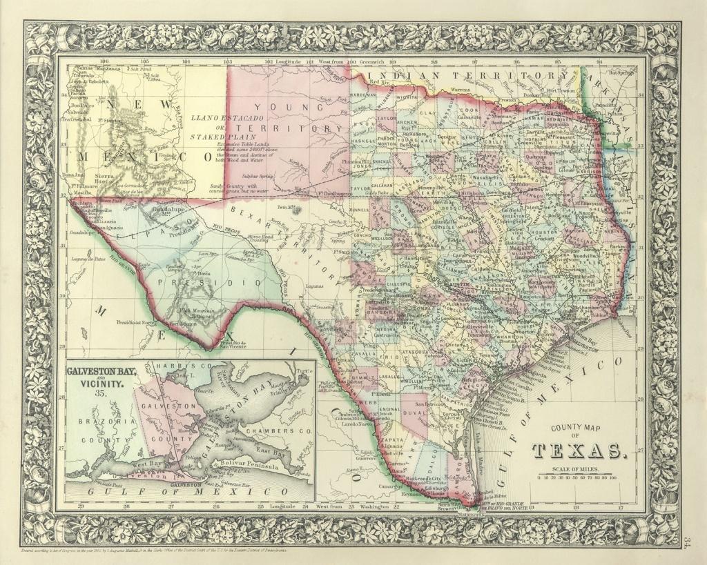 The Antiquarium - Antique Print & Map Gallery - Texas Maps - Vintage Texas Maps For Sale