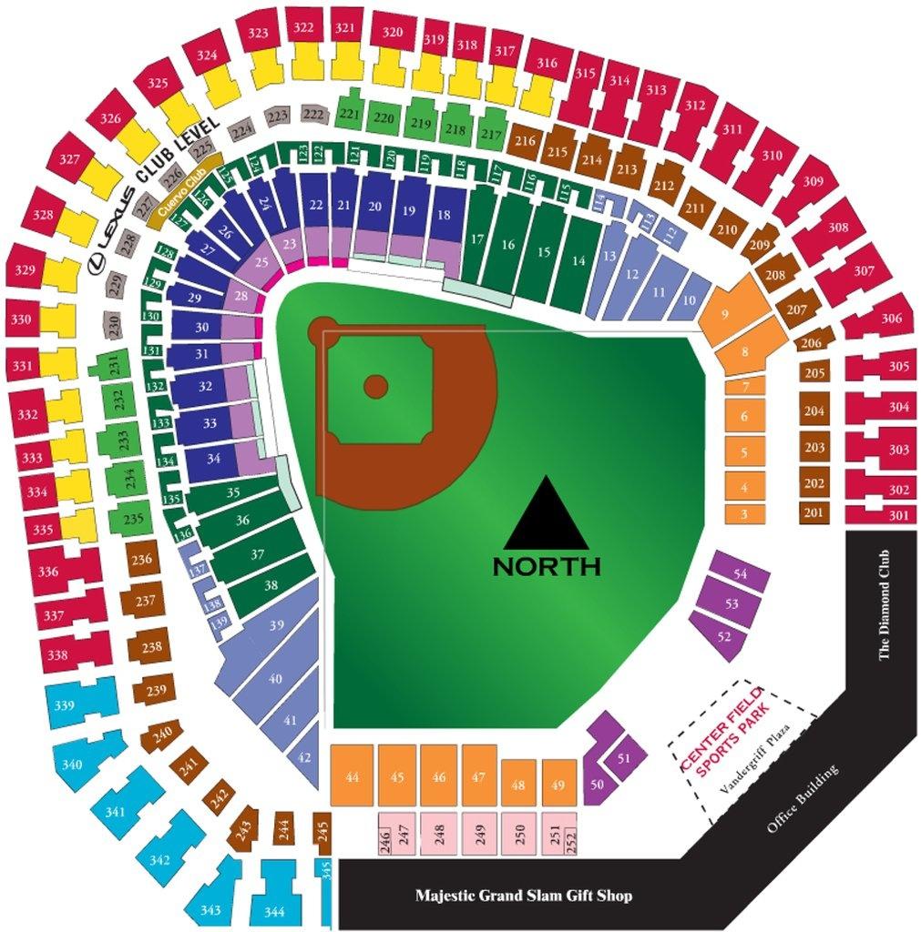 The Ballpark At Arlington - Maplets - Texas Rangers Map