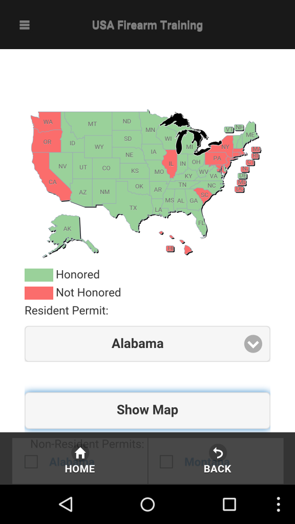 The Best App For Concealed Carry Reciprocity Maps   Concealed Carry Inc - Texas Reciprocity Map
