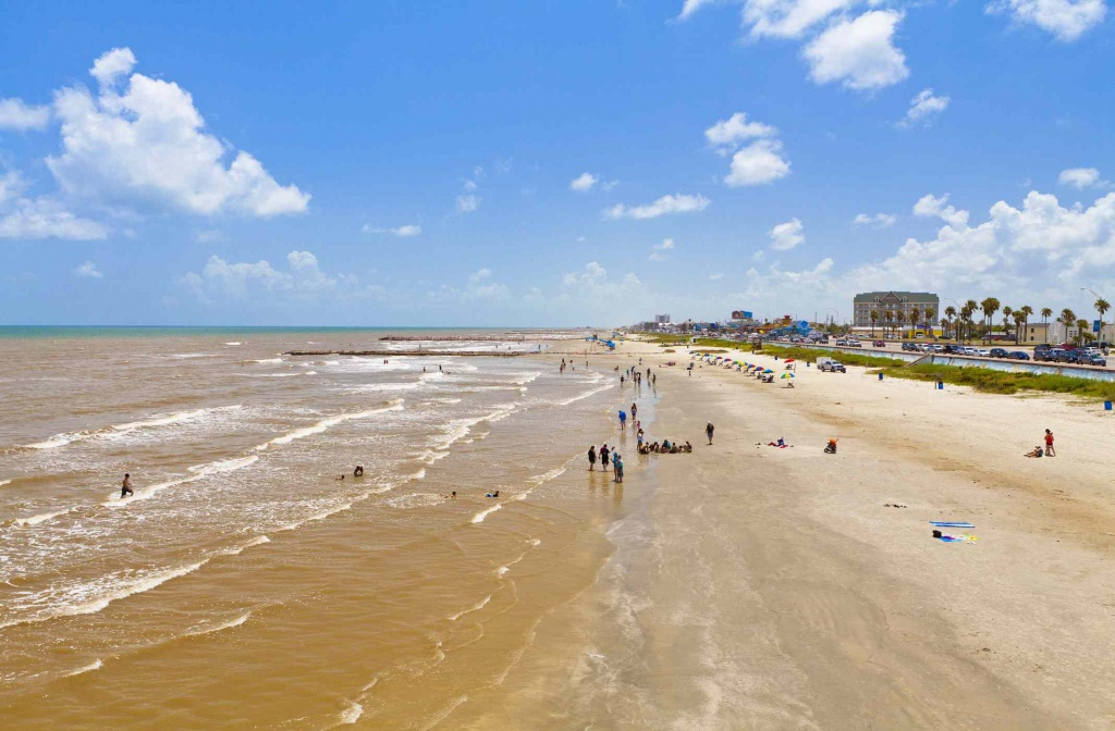 The Best Beaches Near Houston - Texas Gulf Coast Beaches Map