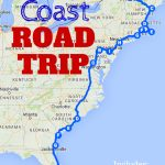 The Best Ever East Coast Road Trip Itinerary | Road Trip Ideas   Map Of East Coast Of Florida Cities