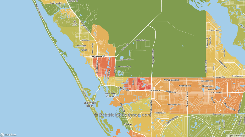 The Best Neighborhoods In Englewood, Flhome Value - Englewood Florida Map