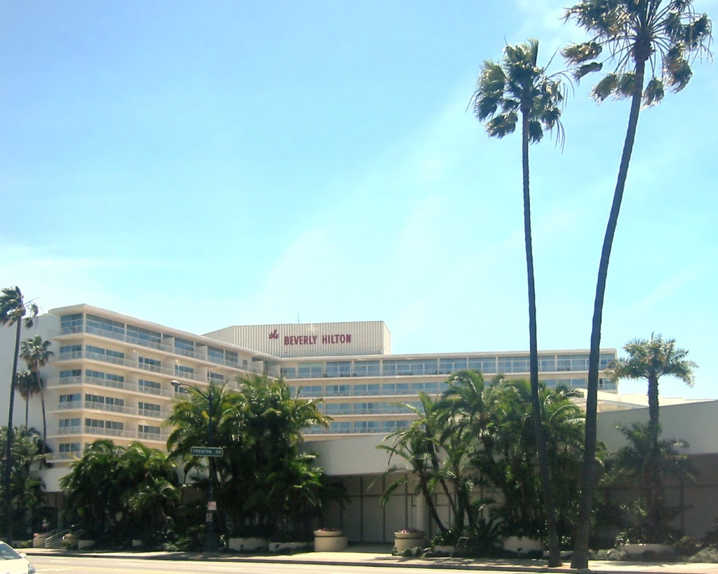 The Beverly Hilton - Wikipedia - Map Of Hilton Hotels In California