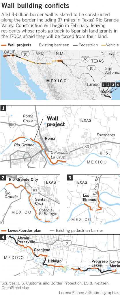 The Border Wall Will Divide This Texas Town, Displacing Or Blocking - Roma Texas Map