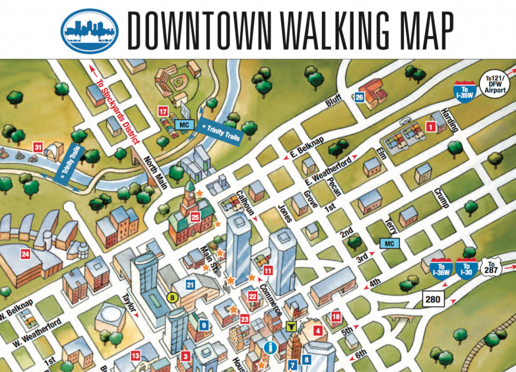 The City Of Fort Worth | Ieee Case 2016 - Map Of Downtown Fort Worth Texas
