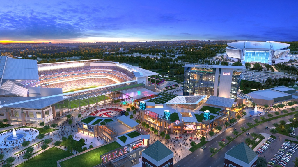The Cordish Companies - Texas Live! - Texas Rangers Stadium Parking Map
