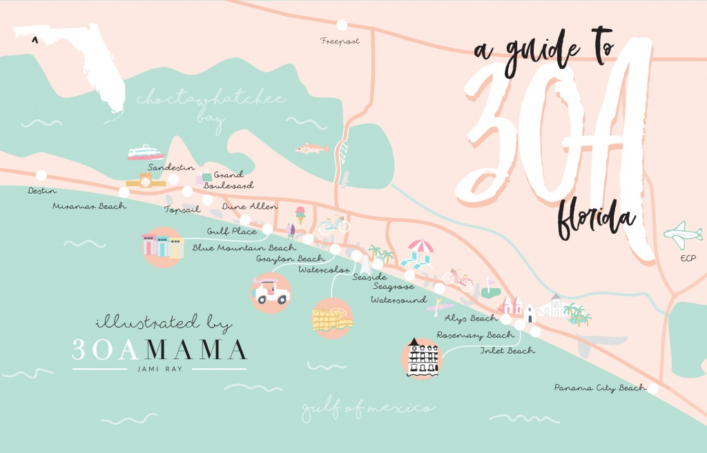 The Essential Guide To 30A - From A Local Mom - 30A Mama™ | Jami - Rosemary Beach Florida Map