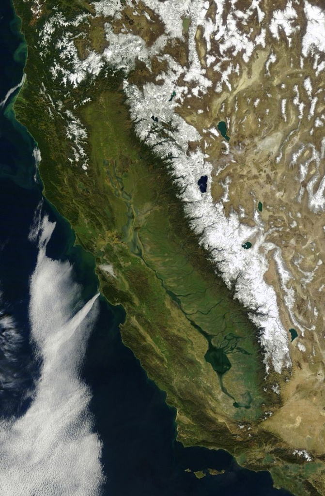 The First Satellite Map Of California (1851) | Accent Ideas - California Map Satellite