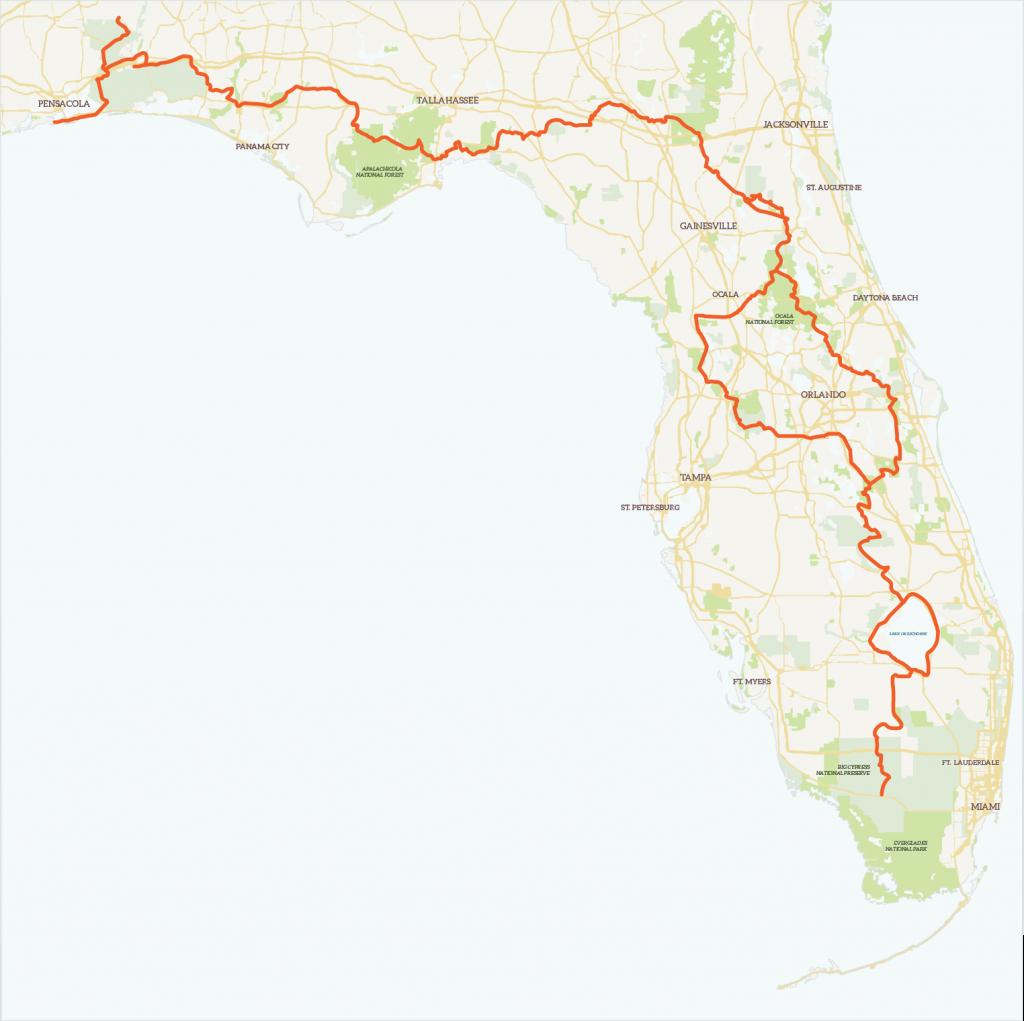 The Florida Trailregion   Florida Trail Association - Florida Hikes Map