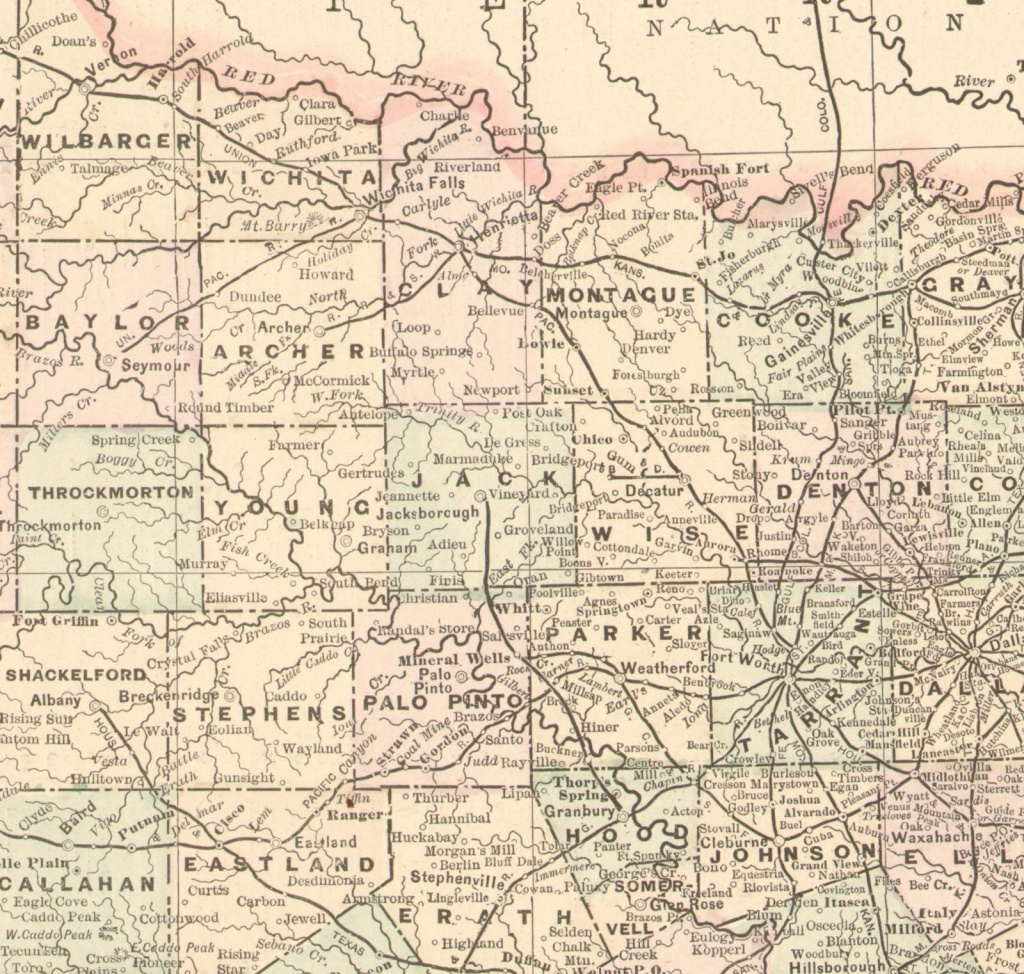 The Fort Worth Gazette: Lost North Texas Ghost Towns & Places On - Texas Ghost Towns Map
