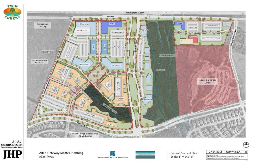 The Future Of Allen: The 121 Corridor – Allen Edc - Allen Texas Outlet Mall Map
