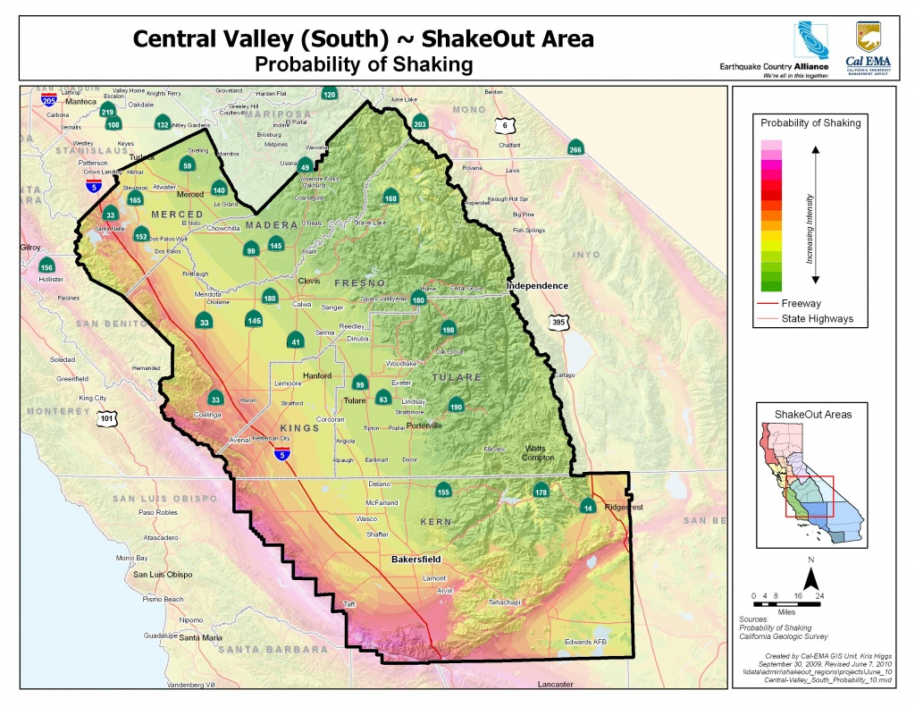 The Great California Shakeout - Central Valley (South) Area - California Geological Survey Maps