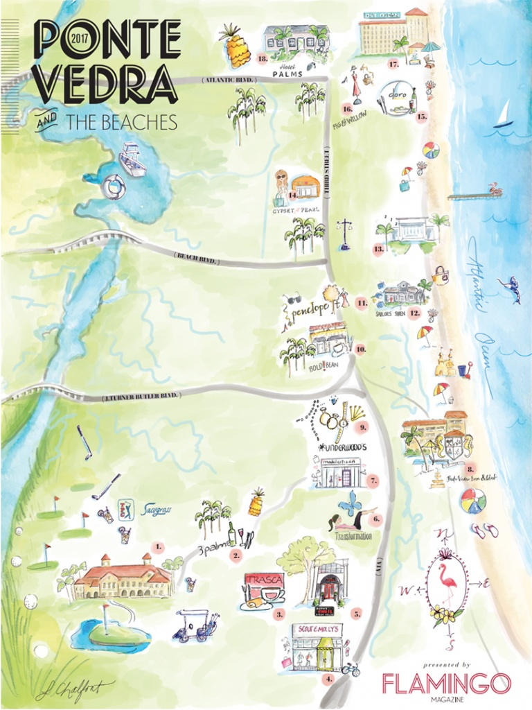 The Local's Guide To Ponte Vedra & The Beaches | Flamingo Magazine - Ponte Vedra Florida Map