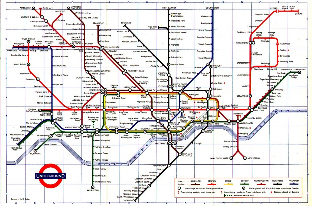 The London Tube Map Archive - London Underground Map Printable A4