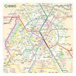 The New Paris Metro Map   Map Of Paris Metro Printable