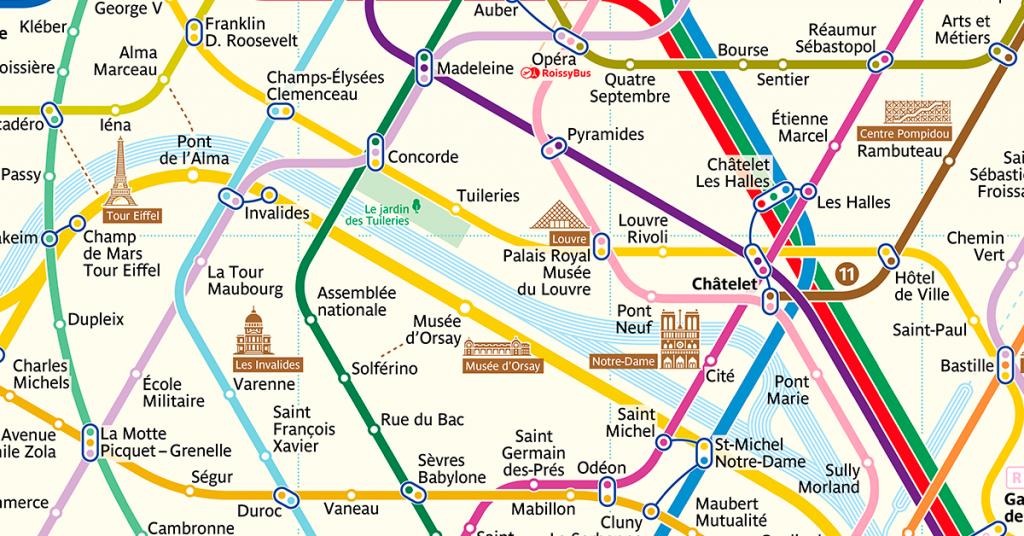 The New Paris Metro Map - Printable Paris Metro Map