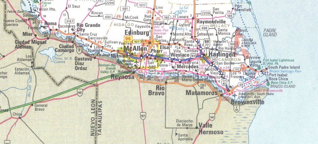 The Rio Grande Valley Texas Map - Map Of South Texas