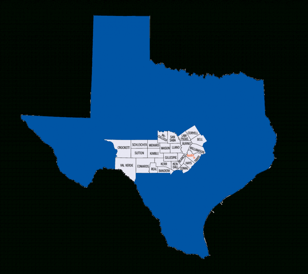The Seven Regions Of Texas: Hill Country - Texas Veterans Blog - Medium - Texas Hill Country Map