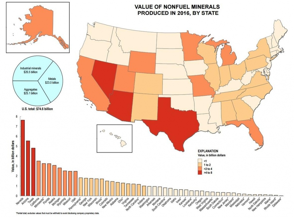The Top 5 Mineral-Producing States - Gold Prospecting In Texas Map