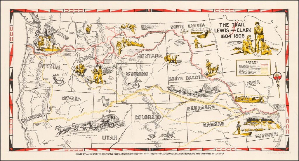 The Trail Of Lewis And Clark 1804 - 1806 - Barry Lawrence Ruderman - Lewis And Clark Printable Map