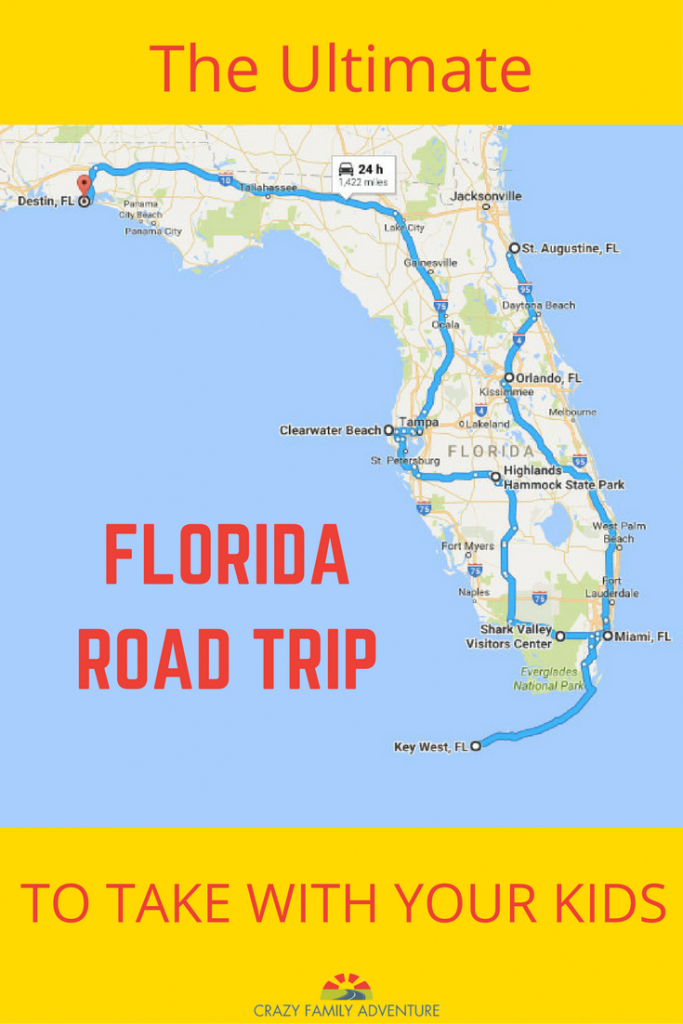 The Ultimate Florida Road Trip: 31 Places Not To Miss | Y Travel - Florida Map Destin Fl