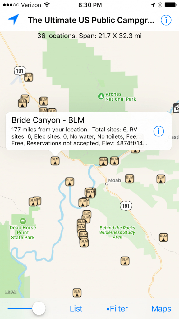 The Ultimate Guide To Finding Free Campsites In The Us - Bearfoot Theory - Free Camping California Map
