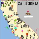 The Ultimate Road Trip Map Of Places To Visit In California | Travel   California Coast Attractions Map