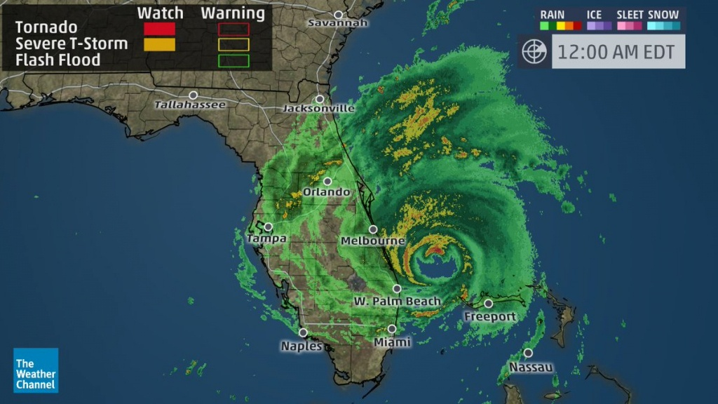 """The Weather Channel On Twitter: """"hurricane #matthew Producing 70+ - Weather Channel Florida Map"""