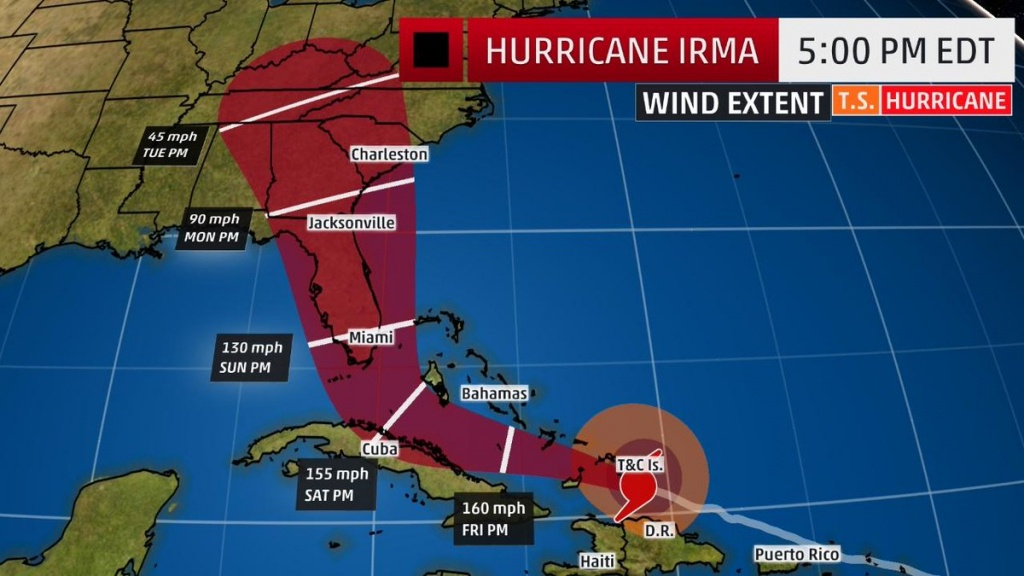 "The Weather Channel On Twitter: ""#irma's Track Has Shifted West - Weather Channel Florida Map"