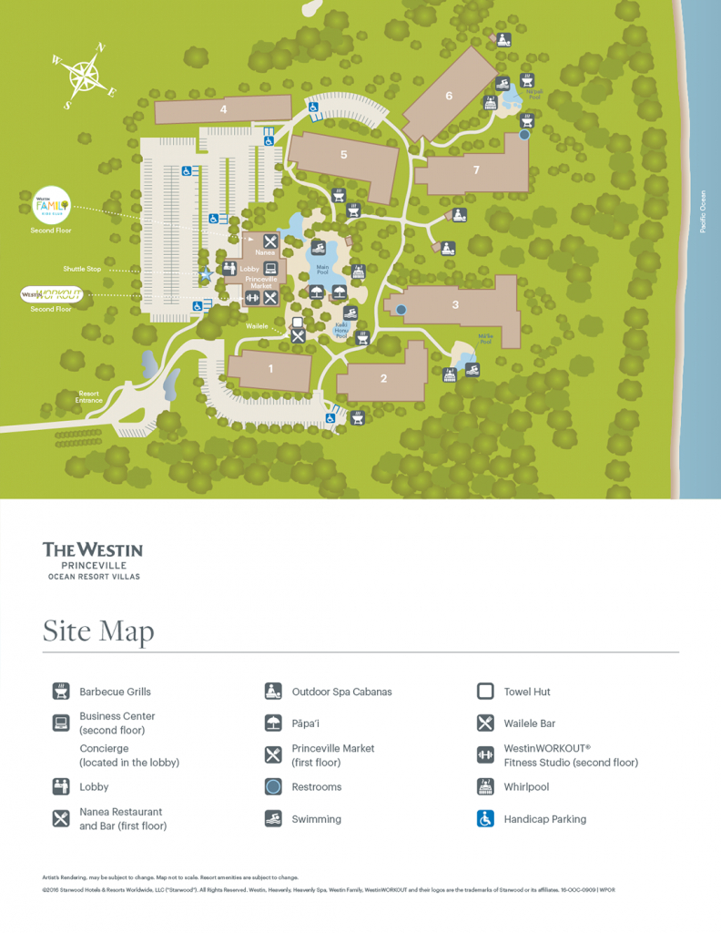 The Westin Princeville Ocean Resort Villas - Starwood Hotels Florida Map