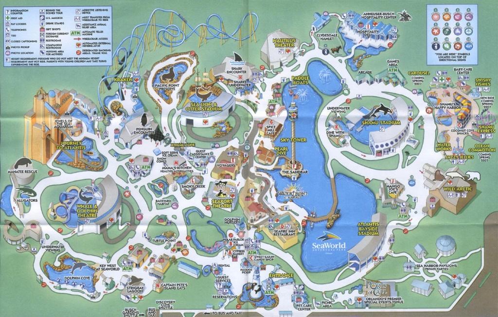 Theme Park Brochures Sea World Orlando - Theme Park Brochures - Seaworld Map Orlando Florida