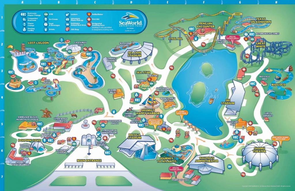 Theme Park Brochures Sea World San Antonio - Theme Park Brochures - Seaworld San Antonio Printable Map