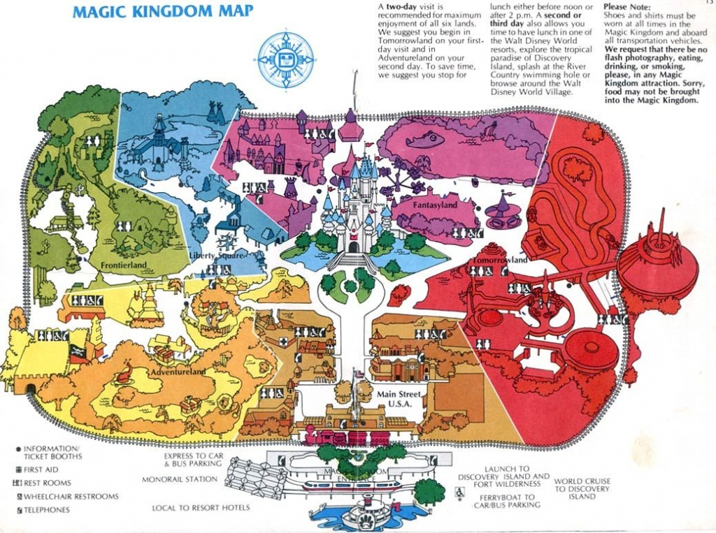 Theme Park Maps – Over The Years   Places I've Been   Disney Map - Magic Kingdom Florida Map