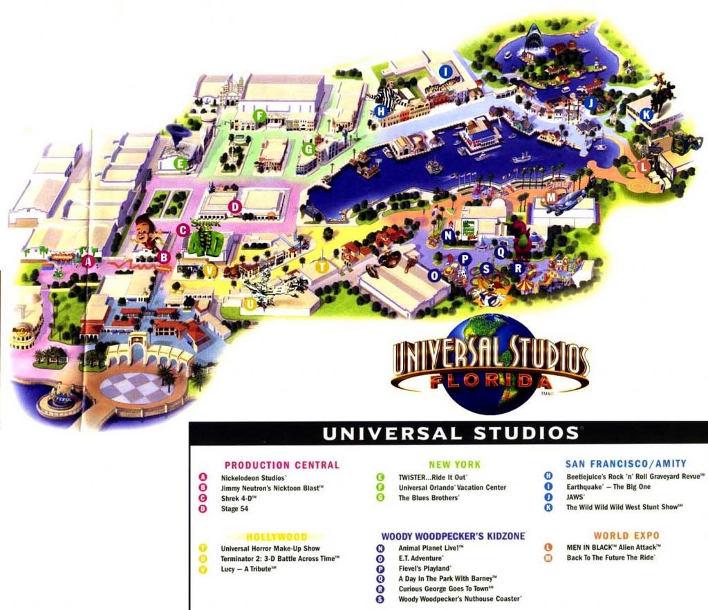 Theme Park Page - Park Map Archive - Universal Florida Park Map