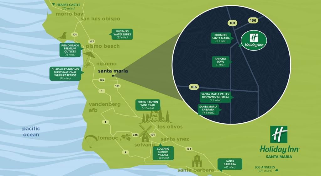 Things To Do In Santa Maria | Holiday Inn Hotel & Suites Santa Maria - California Things To Do Map