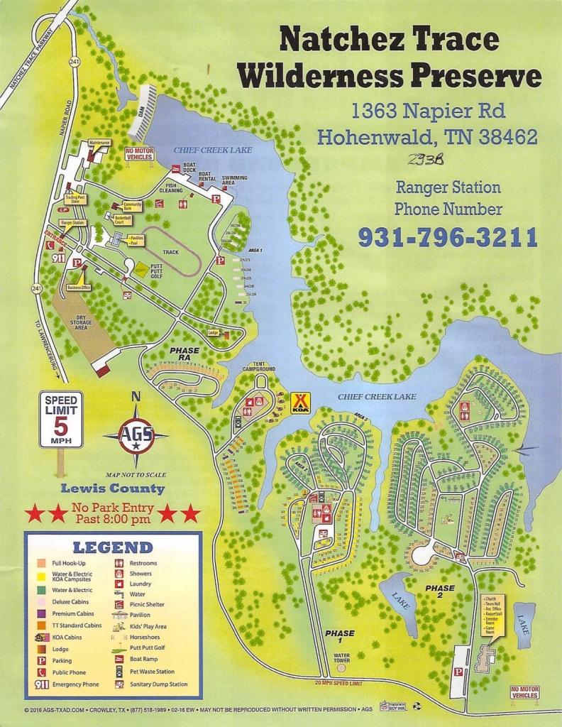 Thousand Trails Natchez Trace Preserve, Hohenwald, Tn | Traveling - Thousand Trails Florida Map