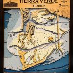 "Tierra Verde   Large   7 Layers   25"" X 30""   Terra Verde Florida Map"