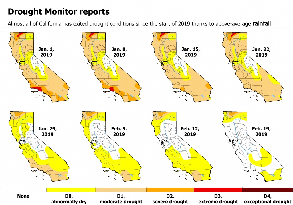 Time-Lapse Map Shows How Winter Rains Have Washed Away California's - California Drought Map