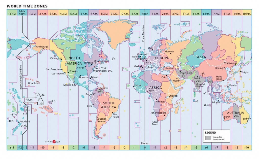 Timezone Map Of Us Color Map Of Us Time Zones Vector Map Usa State - Time Zone Map Usa Printable With State Names