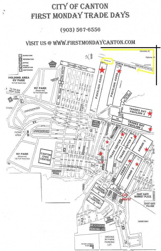 Tips When Visiting Canton First Monday Trade Days   Dallas Moms Blog - Canton Texas Flea Market Map