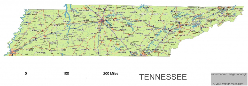 Tn County A Map Of Tennessee Cities - Maplewebandpc - Printable Map Of Tennessee Counties And Cities