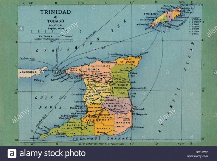 Printable Map Of Trinidad And Tobago