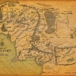 Tolkien's Map - Lawyers, Guns & Money - Printable Lord Of The Rings Map