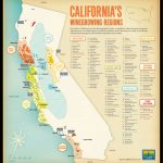 Tomorrow Partners | Wine Institute Of California   California Wine Map Poster