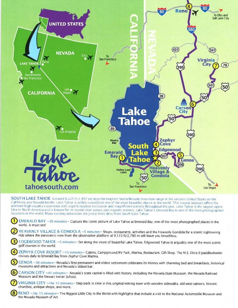 Tool Kit - Lake Tahoe Visitors Authority - Lake Tahoe California Map