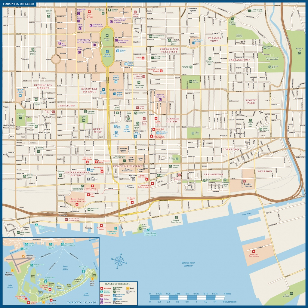 Toronto Downtown Map| Digital Vector |Creative Force - Printable Map Of Downtown Toronto