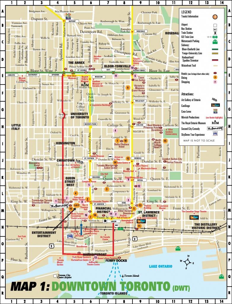 Toronto Downtown Map - Printable Map Of Downtown Calgary