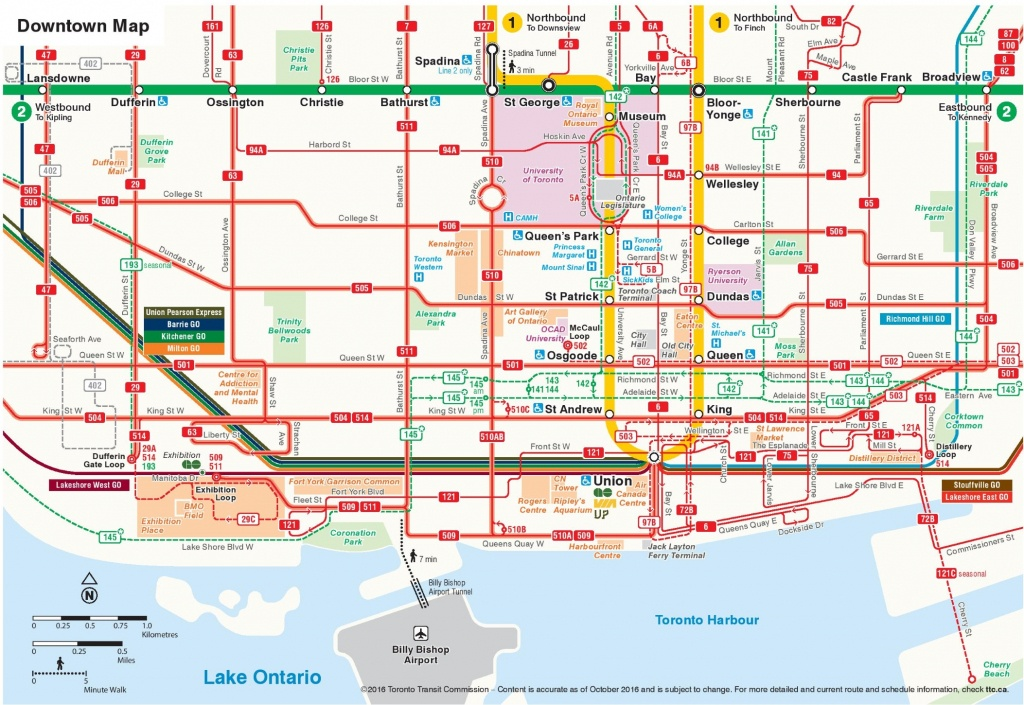 Toronto Maps | Canada | Maps Of Toronto - Printable Map Of Downtown Toronto