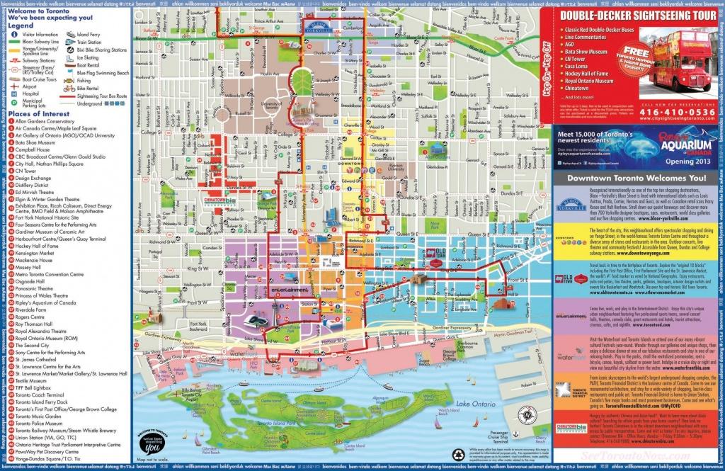 Toronto Maps   Canada   Maps Of Toronto - Printable Map Of Toronto