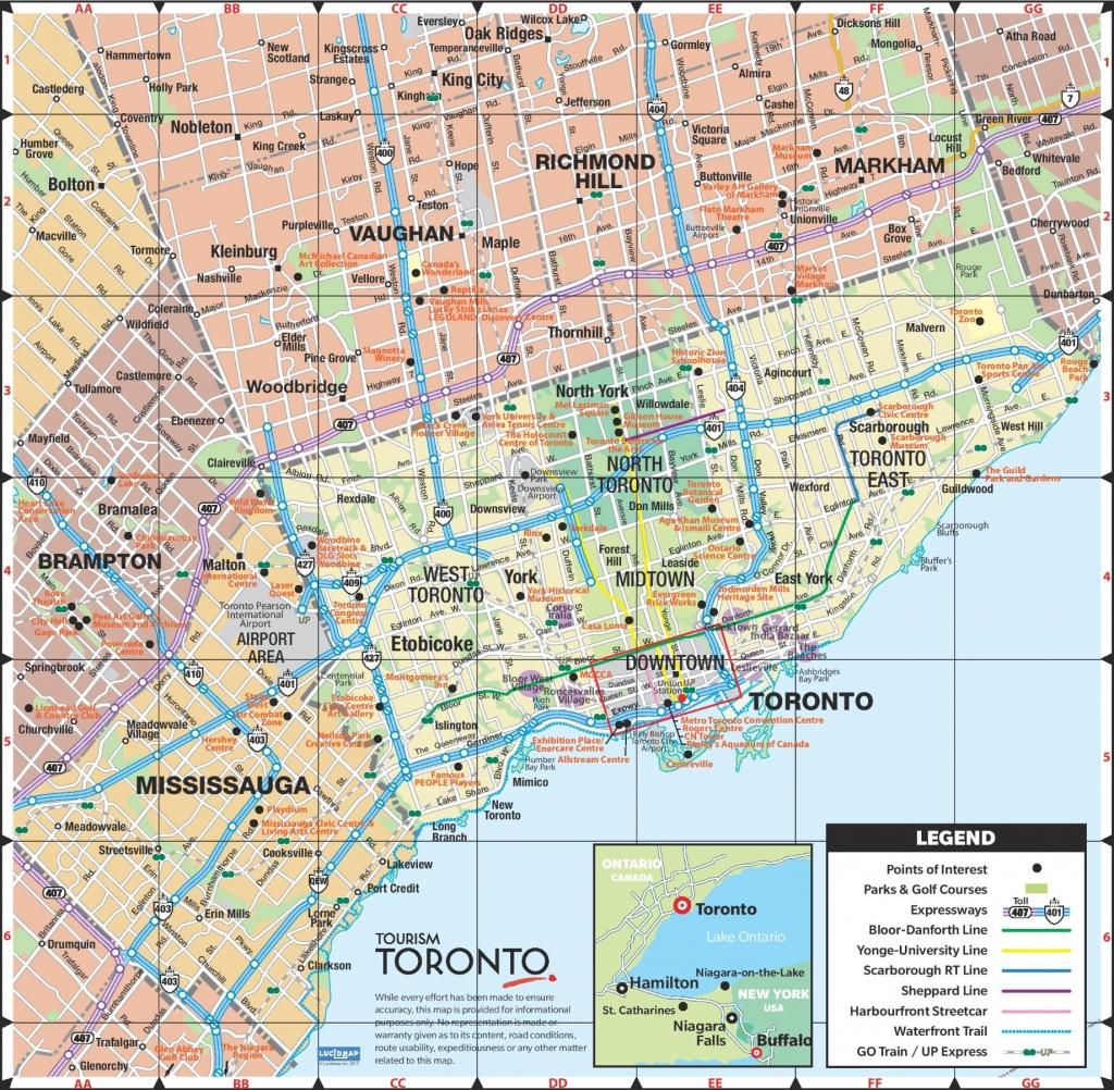 Toronto Road Map - Printable Map Of Toronto